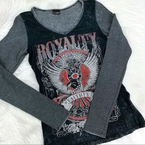 Daytrip Embellished Eagle Royalty Shirt